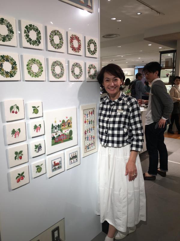 岡田美里さんとデンマーク刺繍を作るワークショップ