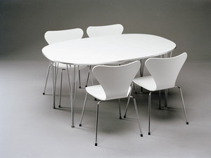 B412,white laminated top and Seven chairs.jpg