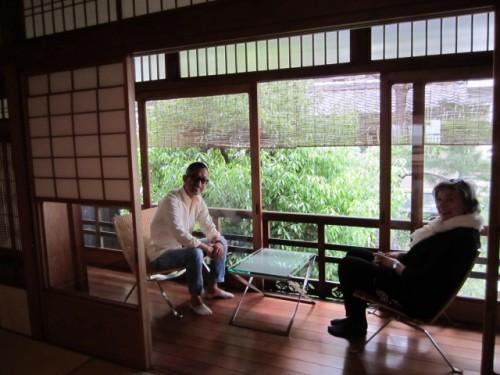 京都にて(弊社代表・砂原とクリスティーヌ・ケアホルム)