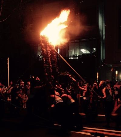 池田市のがんがら火祭り
